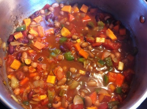 All simmering on the stove!
