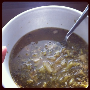 Roasted Garlic Brocoli Soup