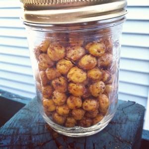 spicy roasted chickpeas jar
